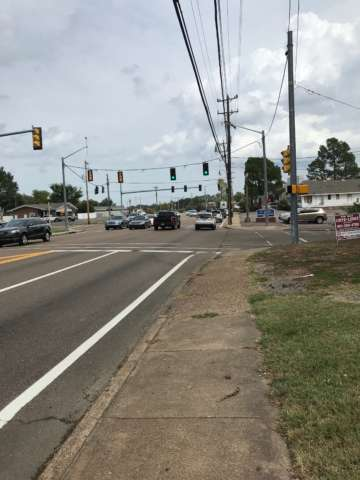 Bartlett Commercial Lot for Sale with traffic signal